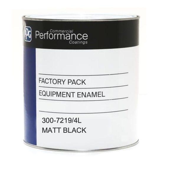 PPG 300 QD ENAMEL MATT BLACK