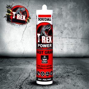 Soudal T-REX Power Fast Grab SMX Polymer Sealant Adhesive 290ml