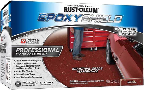 Rustoleum Epoxyshield PROFESSIONAL Workshop Floor Coating – TILE RED