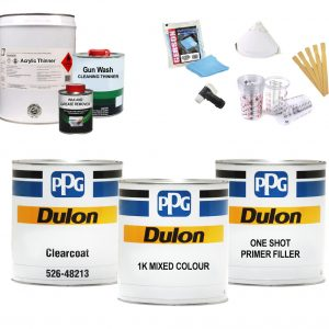 PPG Dulon Acrylic Lacquer Respray Kit #4 – METALLIC COLOURS