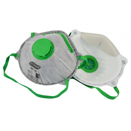 P2 Disposable Respirator / Face Mask with Valve & Carbon Filter N95 – Box of 10