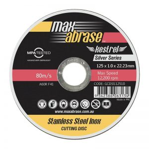 Max Abrase Silver Series Cutting Disc 125MM x 1.0MM *PACK (25)