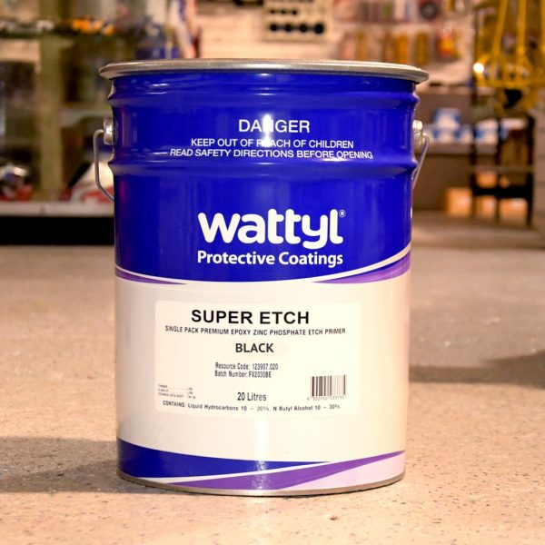 Wattyl Super Etch Primer Black 20L