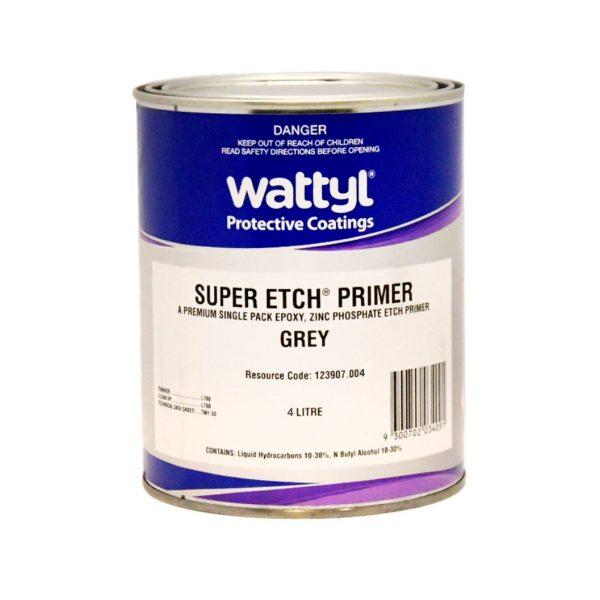 Wattyl Super Etch Primer GREY 4L