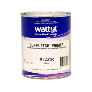 Wattyl Super Etch Primer BLACK 4L