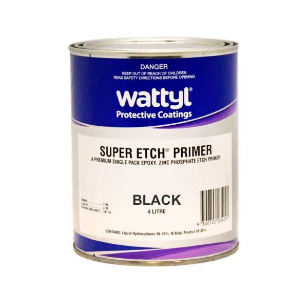 WATTYL SUPER ETCH PRIMER BLACK 4L