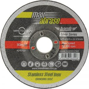Max Abrase Grinding Disc 125 x 6.0MM *PACK (10)