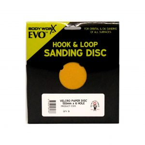 BODYWORX EVO 150MM 6 HOLE SANDING DISC PACKS
