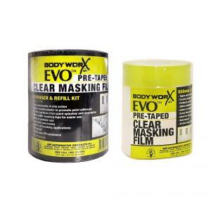 BODYWORX EVO PRE-TAPED MASKING FILM 550MMx33M COMPLETE