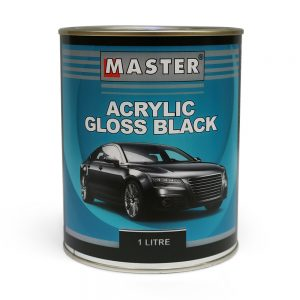 Master Acrylic Lacquer Gloss Black 1L