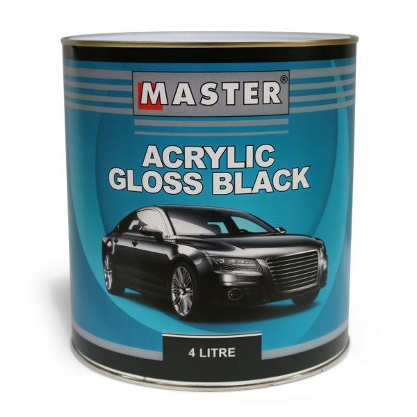 Master Acrylic Lacquer Gloss Black 4L