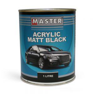 Master Acrylic Lacquer Matt Black 1L