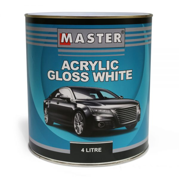 Master Acrylic Lacquer Gloss White 4L
