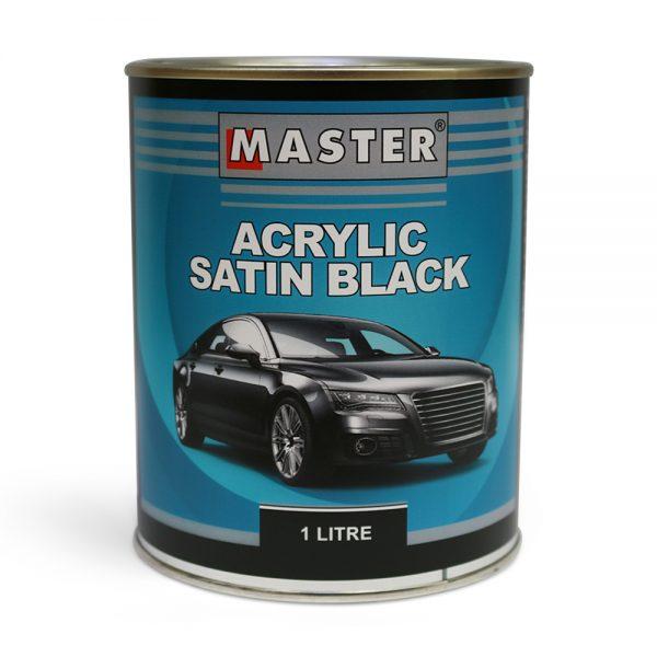 Master Acrylic Lacquer Satin Black 1L