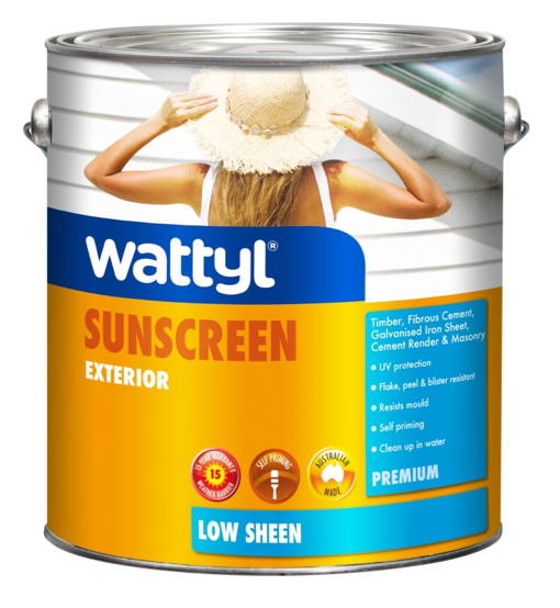 WATTYL PREMIUM EXTERIOR LOW SHEEN WHITE 15L