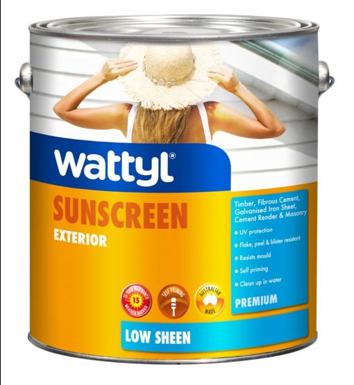 WATTYL PREMIUM EXTERIOR LOW SHEEN WHITE 1L