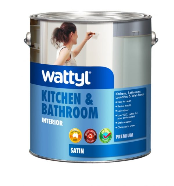 WATTYL PREMIUM KITCHEN & BATHROOM SATIN WHITE 4L